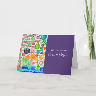 Tree of Life Be My Best Man card