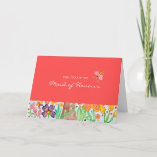 Tree of Life Be My Maid Of Honor Card card