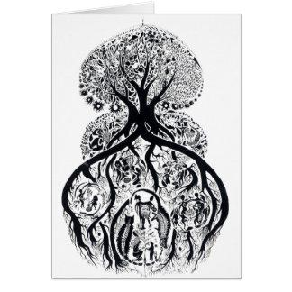 TREE of LIFE - black & white Card
