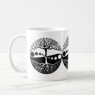 Tree of Life, Black, White Coffee Mug