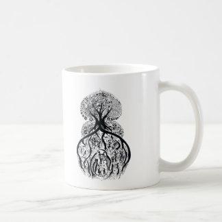 TREE of LIFE - black & white Classic White Coffee Mug