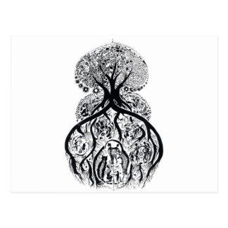 TREE of LIFE - black & white Postcard