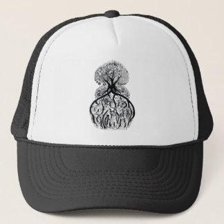 TREE of LIFE - black & white Trucker Hat
