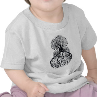 TREE of LIFE - black white T-shirt