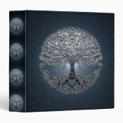 Tree of Life Blue Sky Peaceful Night 3 Ring Binder (<em>$22.00</em>)