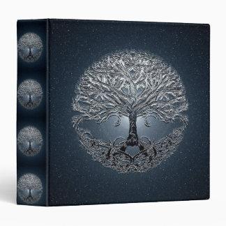 Tree of Life Blue Sky Peaceful Night 3 Ring Binder