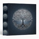 Tree of Life Blue Sky Peaceful Night Binder