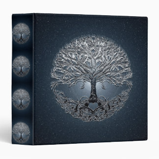 Tree of Life Blue Sky Peaceful Night Binder