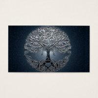 Tree of Life Blue Sky Peaceful Night Business Card