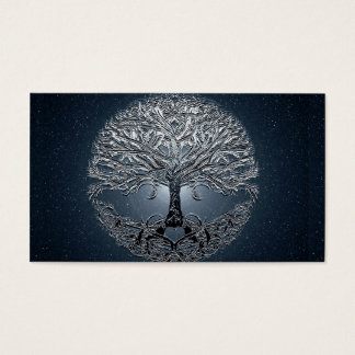 Tree of Life Blue Sky Peaceful Night Business Card