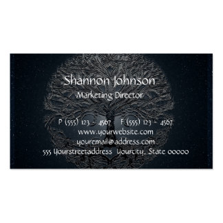 Tree of Life Blue Sky Peaceful Night Double-Sided Standard Business Cards (Pack Of 100)
