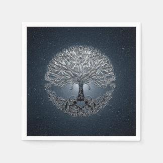 Tree of Life Blue Sky Peaceful Night Paper Napkin
