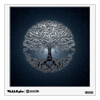 Tree of Life Blue Sky Peaceful Night Wall Skins