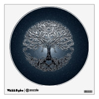Tree of Life Blue Sky Peaceful Night Wall Sticker