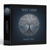 Tree of Life Blue Sky Silent Night 3 Ring Binder (<em>$22.00</em>)