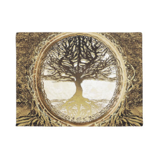 Tree of Life Brown by Amelia Carrie Doormat