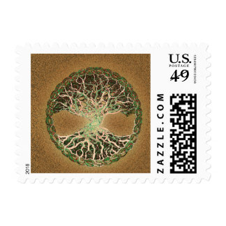 Tree of Life Brown Postage Stamps