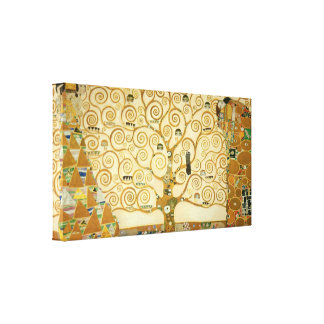 Tree of Life by Gustav Klimt Stretched Canvas Print