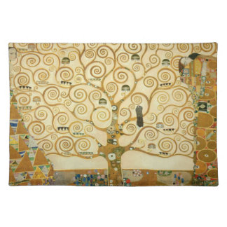 Tree of Life by Gustav Klimt Cloth Placemat