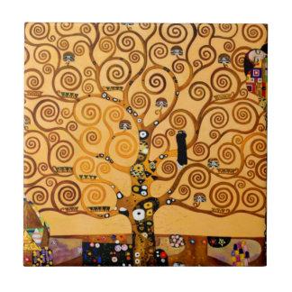 Tree of Life by Gustav Klimt Fine Art Ceramic Tile