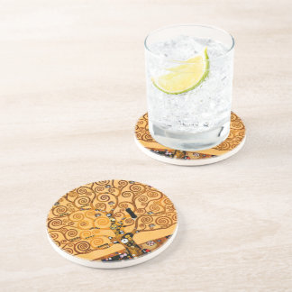 Tree of Life by Gustav Klimt Fine Art Coaster