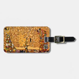 Tree of Life by Gustav Klimt Fine Art Luggage Tag