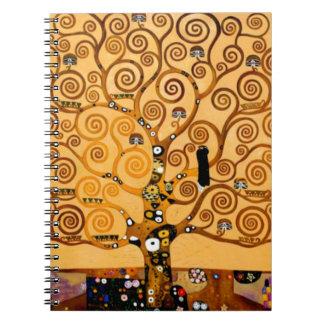 Tree of Life by Gustav Klimt Fine Art Notebook