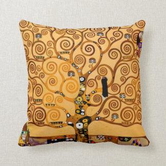 Tree of Life by Gustav Klimt Fine Art Pillow