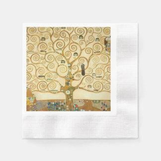 Tree of Life by Gustav Klimt Paper Napkin
