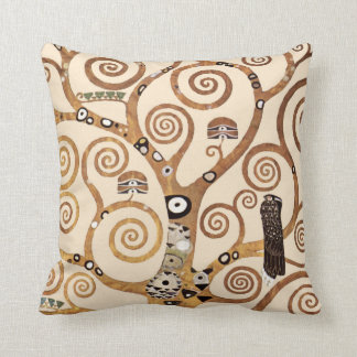 Tree of Life by Gustav Klimt Throw Pillow