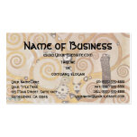Tree of Life by Klimt, Stylized Art Nouveau Symbol Double-Sided Standard Business Cards (Pack Of 100)