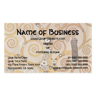 Tree of Life by Klimt, Stylized Art Nouveau Symbol Business Card Templates