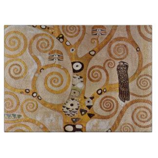 Tree of Life by Klimt, Stylized Art Nouveau Symbol Cutting Board