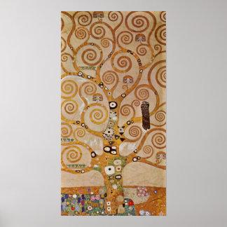 Tree of Life by Klimt, Stylized Art Nouveau Symbol Poster