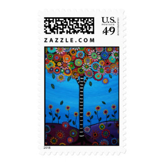 TREE OF LIFE BY PRISARTS POSTAGE STAMP