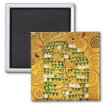 Tree of Life  c.1905-09 2 Inch Square Magnet