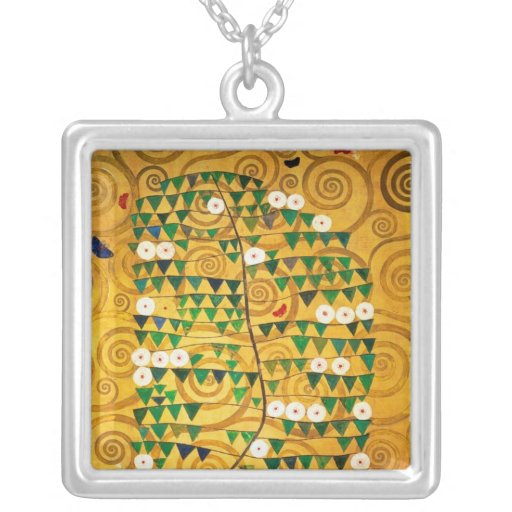 Tree of Life  c.1905-09 Square Pendant Necklace