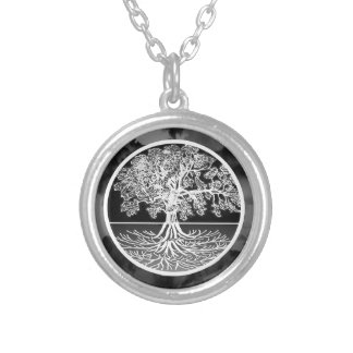 Tree of Life Calming Round Pendant Necklace