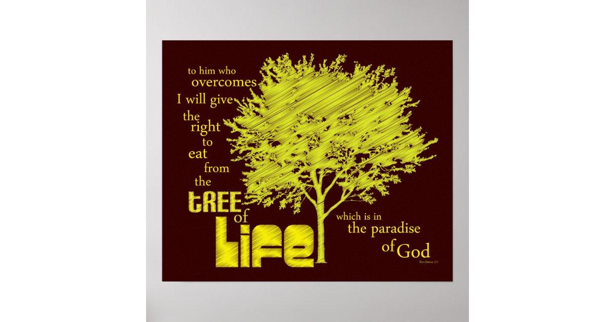 Tree Of Life Christian Scripture Canvas Print Zazzle Com
