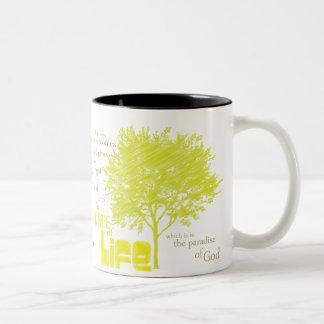 Tree of Life Christian Scripture coffee mug