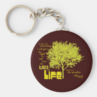 Tree of Life Christian Scripture keychain/keyring Basic Round Button Keychain