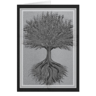 Tree of Life Chrome 2 Greeting Card