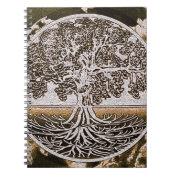 Tree of Life Circle of Life in Brown Notebook (<em>$13.70</em>)