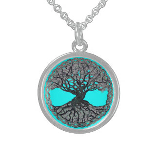 Tree of Life Circle of Life Sterling Silver Necklace