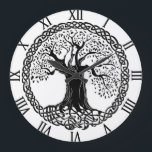 "Tree of Life Clock<br><div class=""desc"">The tree of life is one of the most popular celtic designs.  It speaks to something in all of us. Roots and reaching for the heights.</div>"