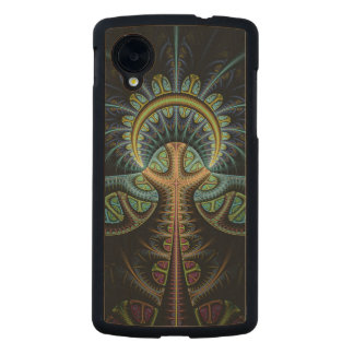 Tree of Life Colorful Abstract Carved® Maple Nexus 5 Slim Case