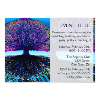 Tree of Life Constant Change and Hope 5x7 Paper Invitation Card