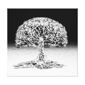 Tree of Life Coral Reef Black and White Canvas Print (<em>$203.10</em>)