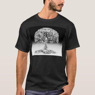 Tree of Life Coral Reef Black and White T-Shirt