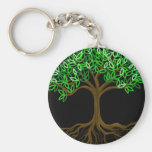 Tree of Life customizables Basic Round Button Keychain